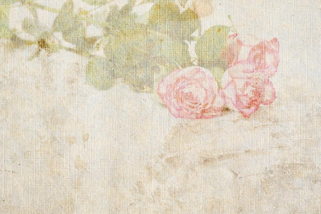 Pink roses on vintage background — Stock Photo ...