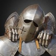 Ancient metal armor — Stock Photo