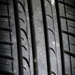 Close-up of car tire - Stock Photo
