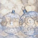 Transparent Christmas ball — Stock Photo