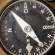 Old dirty german compass - Stock Photo