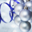 Light blue christmas ball — Stock Photo #14233681