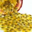 Background of Tropical Passion Fruit aka Maracuja — Stock Photo