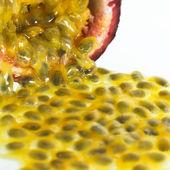 Background of Tropical Passion Fruit aka Maracuja — Stock Photo