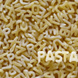 Royalty-Free Stock Photo: Alphabet pasta