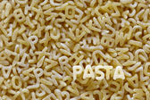 Alphabet pasta — Stock Photo