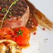 Beff Steak Tournedos with grilled vegetables — Stock Photo