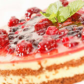 Cake with berry's — Stock Photo