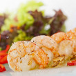 Fried black tiger prawns with herbs and spices — Lizenzfreies Foto