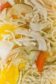 Marinated cabbage (sauerkraut) in glass, macro shoot — Stock Photo