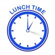 Clock lunch time — Stock Photo #12426244