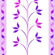 Purple leaves design — Stock Photo