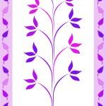 Purple leaves design — Stock Photo
