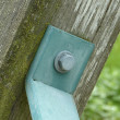 Stockfoto: Bolt and metal bracket