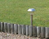 Solar garden light — Stock Photo