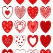 Hearts design vector illustration — Stock Vector