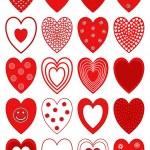 Hearts design vector illustration — Stock Vector