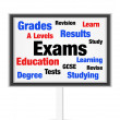 Stock Photo: Exams concept
