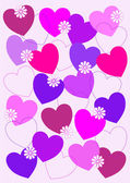 Hearts abstract background — Stock Vector