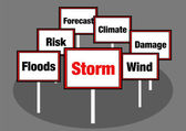 Storm signs — Stock Photo