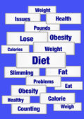 Segni di dieta e peso — Foto Stock