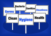 Hygiene signs — Stock Photo
