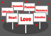 Love Valentine signs — Stock Photo