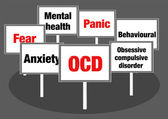 OCD signs — Stock Photo
