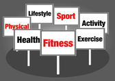 Health and fitness signs — Stock fotografie