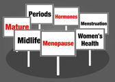 Menopause signs — Stock Photo