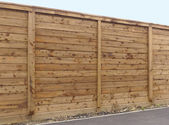 Wooden fence panel — Stock Photo