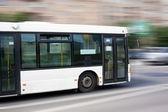 White city bus — Stock Photo
