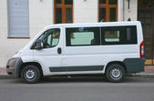 White minibus — Stock Photo