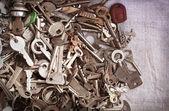 Staré kovové klíče — Stock fotografie