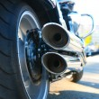 Motorcycle exhaust pipes — Stock Photo