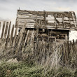 Stock Photo: Wooden thrown rural house