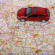 Map of Europe and car — ストック写真
