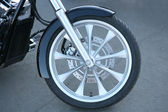 Forward wheel motorcycle — Stock Photo