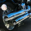 Motorcycle exhaust pipes — Stock Photo #16638943