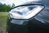 Car headlight close up — Stock Photo