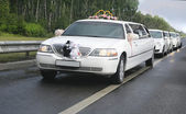 Wedding limousine with ex-court — Stock Photo