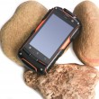 Mobile phone in the shock-proof case — Stockfoto