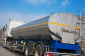 Fuel truck goes on the highway — Stock Photo