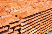 Bricks laid in pallets — Stock Photo