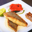 Fillet fried fish  — Stockfoto