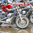 Stock Photo: Motorcycles on parking