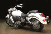 White powerful motorcycle — Stock Photo