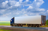Transportation of goods by truck — Stock Photo