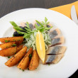 Herring with potatoes  — Stockfoto