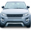 Stock Photo: SUV front isolated
